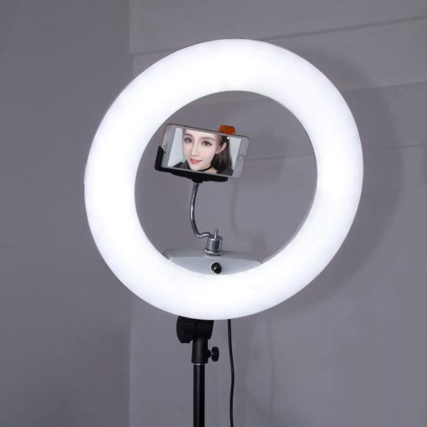 Кольцевая  лампа OKIRA LED RING FE 480 PRO(корпус черный, розовый, белый )+монитор/пульт