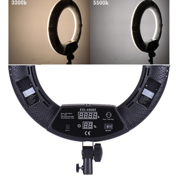 Кольцевая лампа OKIRA LED RING FD 480(корпус черный, розовый, белый )+монитор
