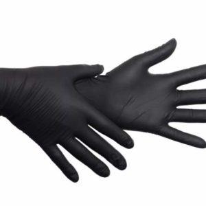 Перчатки одноразовые нитриловые OKIRA чёрные (100 шт/уп)