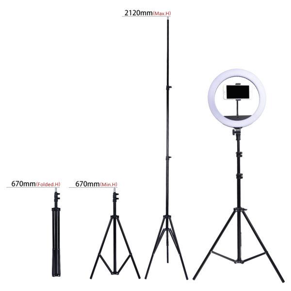 Кольцевая лампа OKIRA LED RING 300 ZBR 14