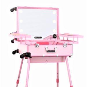 Мобильная студия визажиста Premium LC015 (розовая)