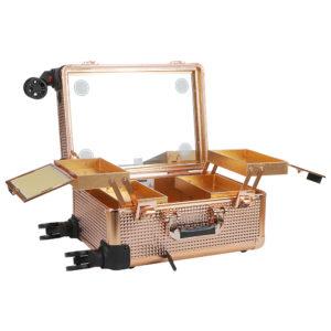 Мобильная студия визажиста без ножек LC 7006 (золотая)