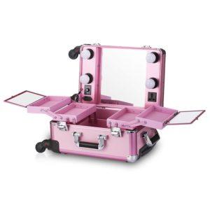 Мобильная студия визажиста без ножек LC 006 (розовая)
