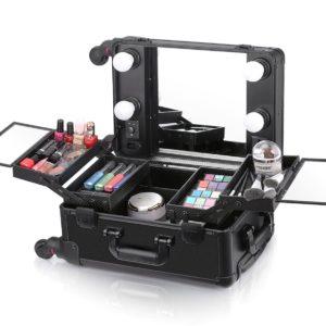 Мобильная студия визажиста без ножек LC 006 (чёрная)