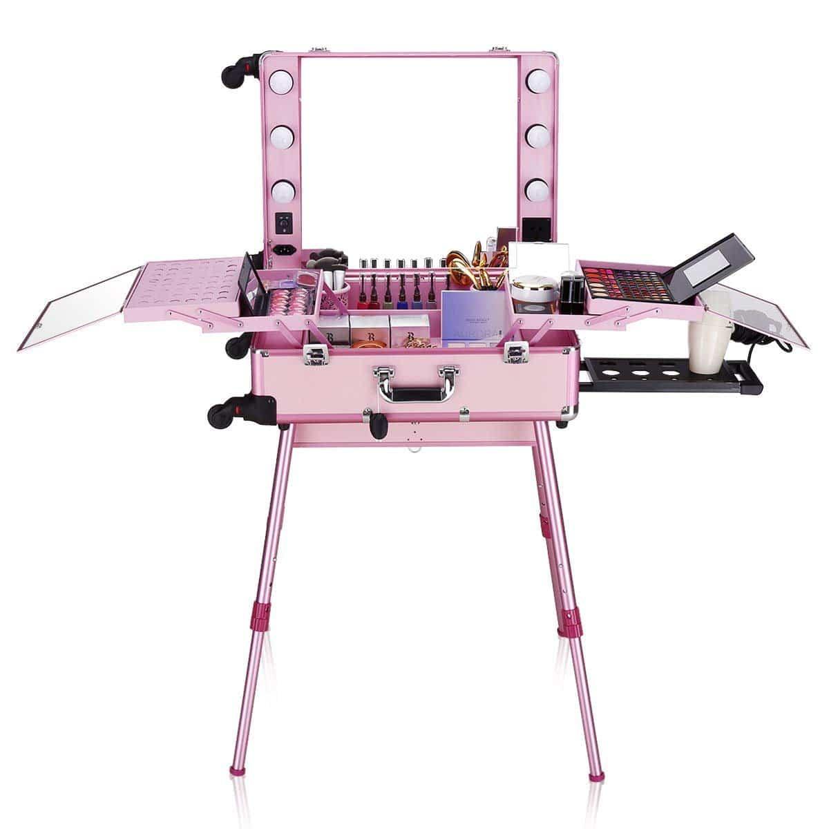 Мобильная студия визажиста LC 004 (розовая)