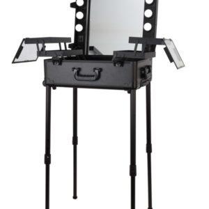 Мобильная студия визажиста черная LC 003