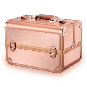 Бьюти-кейс для косметики розовое золото CWB8340