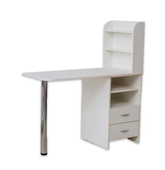 Стол для маникюра с тумбой 2 полки