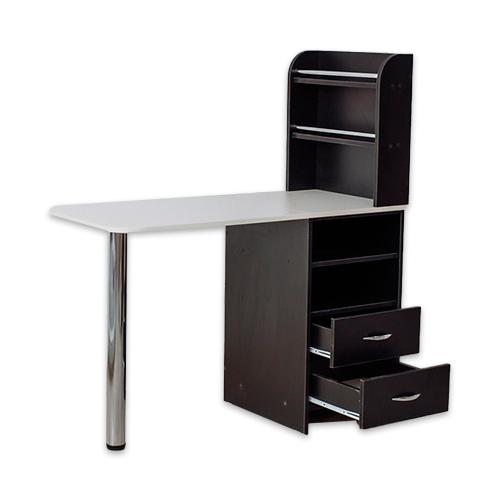Маникюрный стол с тумбой 2 полки