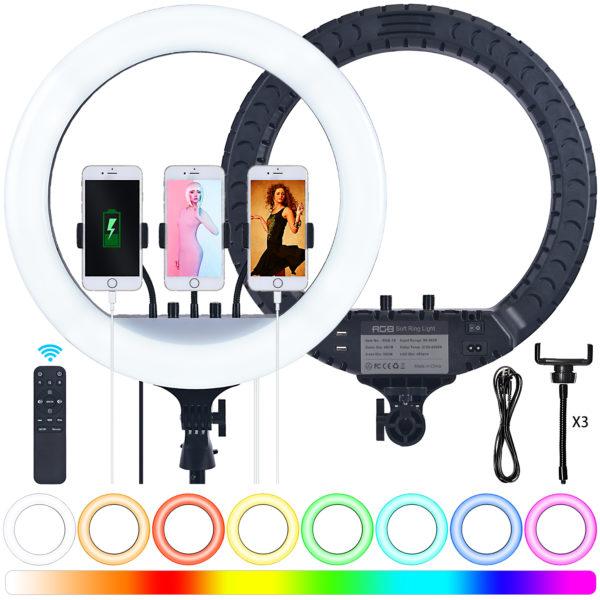 Кольцевая лампа OKIRA LED RING 480 RGB 18