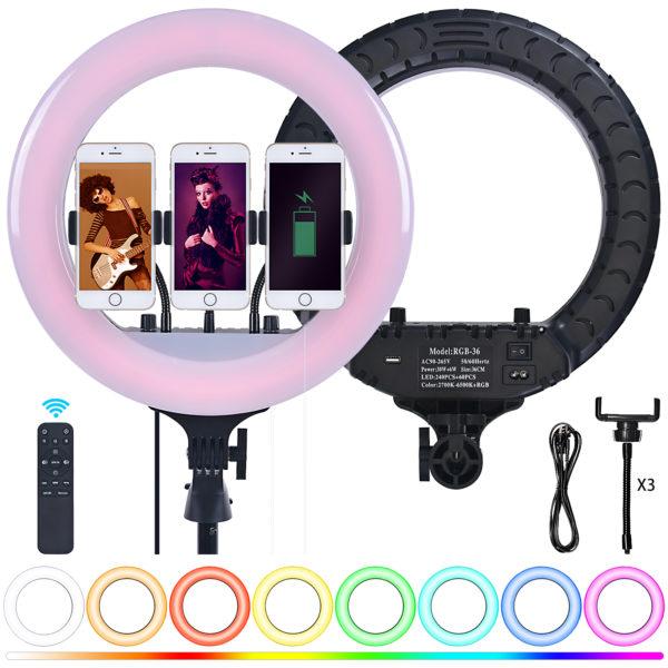 Кольцевая лампа OKIRA LED RING 300 RGB 36 см