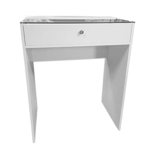 Гримерный стол со стеклом 80 см, 1 ящик