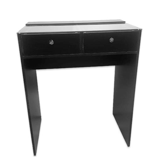 Гримерный стол со стеклом 80см, 2 ящика