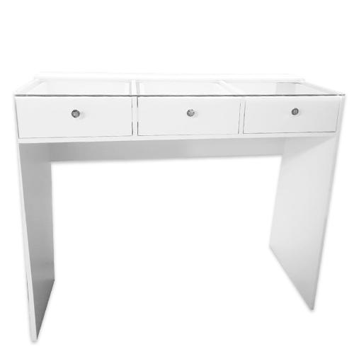 Гримерный стол со стеклом 1200см, 3 ящика