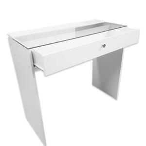 Гримерный стол со стеклом 1100 см, 1 ящик