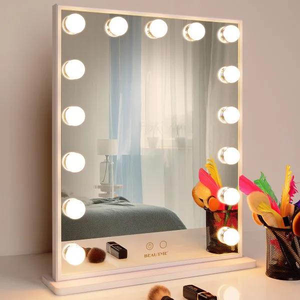 Гримерное зеркало  L605V (белое)
