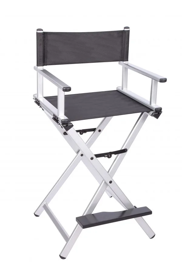 Разборный стул визажиста  (серебристый)